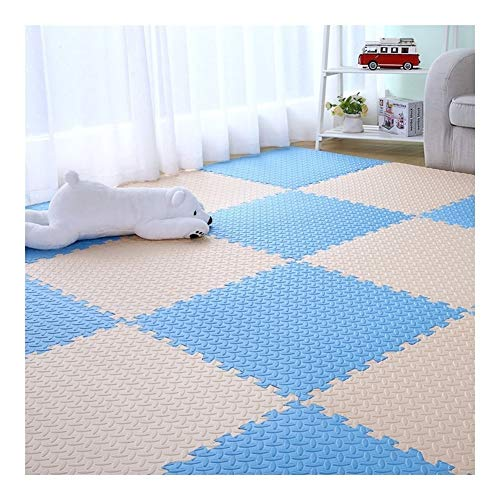 AMDHZ Interlocking Foam Floor Mats Soft Non-slip Children crawling mat Environmental protection material Home living room Gym large 2.5 cm Thick 60X60 cm (Color : C, Size : 12-Tiles)