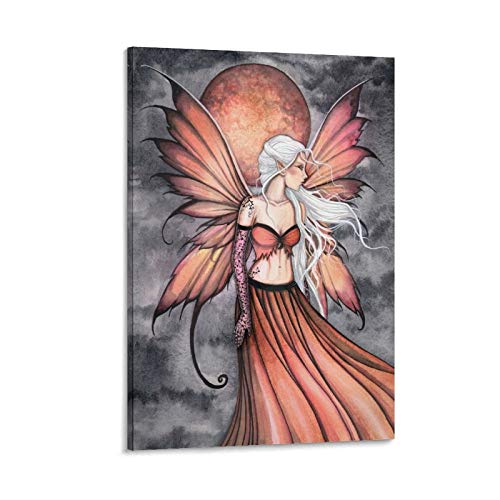 Póster de la serie de elfos de fuego, lienzo mágico con bola de fuego, póster y arte de pared, moderno para decoración de dormitorio familiar de 30 x 20 cm