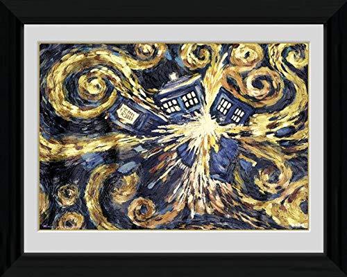 Doctor Who Poster Exploding Tardis (96,5x66 cm) gerahmt in: Rahmen schwarz