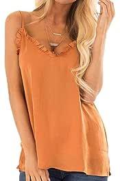 Amazon.es: Naranja - Camisetas de tirantes / Mujer: Deportes y ...