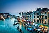 qwwqww 1000 Piezas de Rompecabezas para Adultos, exquisitos coleccionables y Regalos de cumpleaños Venecia 50x75cm