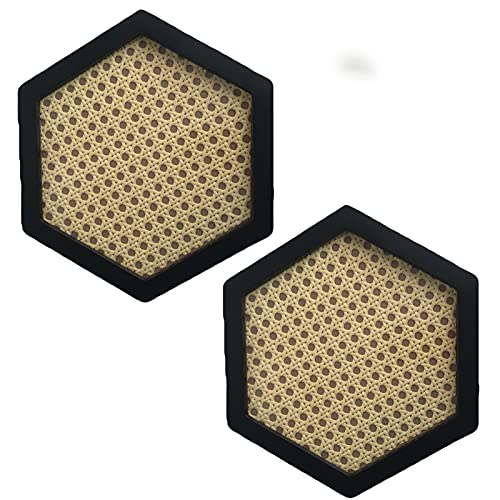 Trays Rattan-Dinner-Platte Kaffee Tee Dekoration Schmuck und Kosmetik-Speicher-Tablett-Desktop-Dekoration (2 Stück) (Color : Polygon A)