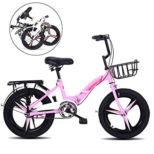 YRYBZ Bicicleta de Montaña Plegable, 18-20 Pulgadas Bicicleta Juvenil, Bicicleta Infantil, Bici...