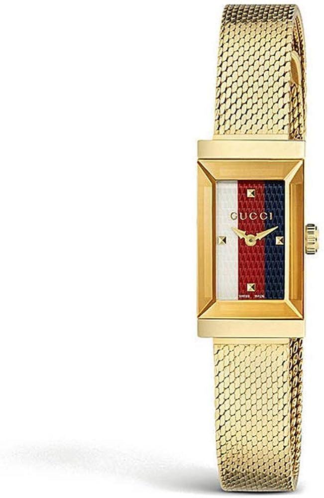 Gucci,orologi da polso da donna,in acciaio inossidabile in pvd oro giallo,quadrante in madreperla YA147511