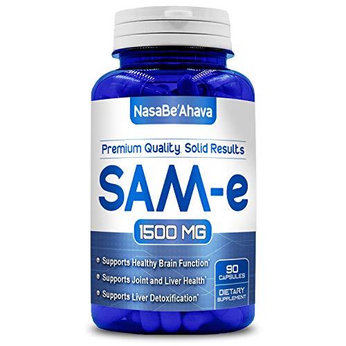 NASA BEAHAVA Pure SAM-e 1500mg (per Serving) 90Capsules (S-Adenosyl Methionine) Supports Joint Health & Brain Function - USA Made