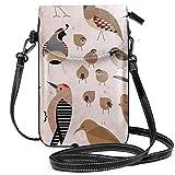 Sonoran Birds - Bolsa bandolera pequeña para teléfono celular, cartera con correa ajustable para mujer