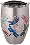 Tervis 1298863 Dragonfly Mandala, 12 oz, Silver