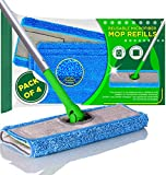 Microfiber Mop Pads Compatible with Swiffer Sweeper, 4-Pack (Mop is Not Included)