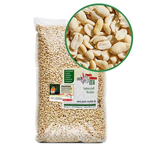 Paul´s Mühle Erdnüsse Weiss, Erdnusskerne blanchiert ohne Haut, 25 kg