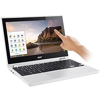 "2017 Newest Acer Premium R11 11.6"" Convertible 2-in-1 HD IPS Touchscreen Chromebook - Intel Quad-Core Celeron N3160 1.6GHz, 4GB RAM, 32GB SSD, Bluetooth, HD Webcam, HDMI, USB 3.0, Chrome OS - White"