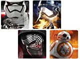 Funko SW03072 Star Wars EPVII: Plate Set: Photographic Characters 4-Pack, Multicoloured, 20.5 x 2 x 20.5 cm
