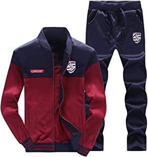 comprar comparacion Hombre Chándal 2 Piezas Conjuntos Deportivos Pantalones + Chaquetas Sweatshirt