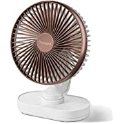 OCOOPA Ultra Quiet Fan, Battery Desk Fan 6.5'' Inch, Oscillating Cooling Electric Table top USB Fan Silent Air Circulator, 4000 mAh Rechargeable Battery Operated for Home, Bed, Office