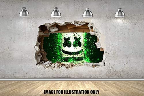 Marsh EDM mello 3D Wall Smash EDM Gaming Gamer Floss wand zertrümmern 3D Wandtattoo Kinder Jungen Mädchen Wand Aufkleber Wand Kunst Transfer Aufkleber