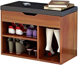 Shoe Rack/Shoe Cabinet Simple Modern Home Shoe Bench Console Cabinet Practical Storage Design Breathable Comfort Load 80kg Size Length 60cm Width 30cm Height 45cm (Color : B)