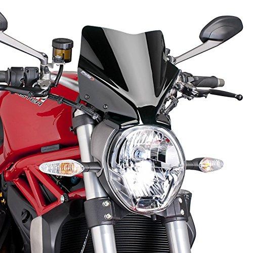Windschild für Ducati Monster 797 17-19 schwarz Puig 7013n