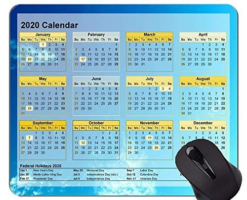 2020 Galaxy Kalender Mauspads Angepasst, Dark Blue Sky Themed Rubber Mouse Pad