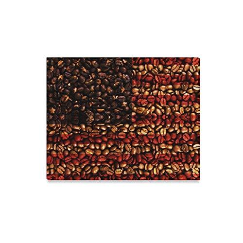 Rtosd Wandkunst Malerei Usa Flagge Kaffeebohnen Drucke Auf Leinwand Das Bild Landschaft Bilder Öl Für Zuhause Moderne Dekoration Druck Dekor Für Wohnzimmer