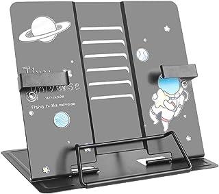 Atril de lectura de metal antideslizante GUBOOM color azul para cocina y oficina 6 niveles