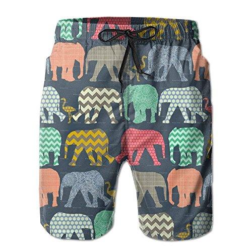 Elefante FLA-mingos Art Pantalones Cortos de Surf de Verano Ocasionales Pantalones Cortos de Pantaloness