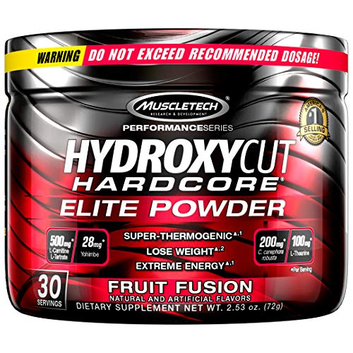 Weight Loss Drink Mix | Hydroxycut Hardcore Elite Powder | Weight Loss for Women & Men | Weight Loss Supplement | Energy Drink Powder to Lose Weight | Metabolism Booster for Weight Loss | Fruit Fusion