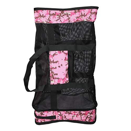 SALUTUYA Bolsa de Equipo de Buceo al Aire Libre Bolsa práctica portátil, para bucear(Pink Camouflage, 105L)