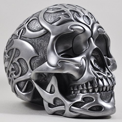 Tribal Skull in Silver - H19cm by Design Clinic