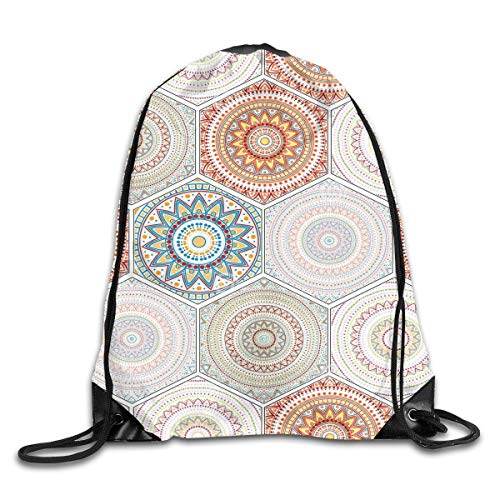 Ambesonne Moroccan Gym Bag Large Weekender Carry-on Orient Circles Corners