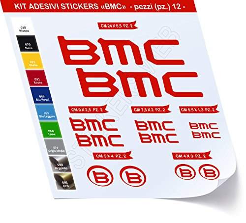 Pimastickerslab sticker voor fietsen BMC_Kit 1_Kit sticker 12 stuks -Scegli SUBITO Colore- Bike Cycle Pegatina cod.0469