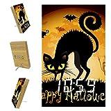 Anmarco Sveglie Happy Halloween Nero Gatto LED Orologi Digitali per Ufficio Cucina Soggiorno Camera Da Letto Desktop con Ricarica USB