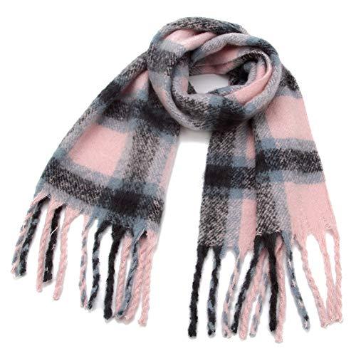 MYTJG Lady sjaal herfst en winter roze grijs warm Plaid deken sjaal sjaal sjaal dames warm en comfortabel warm