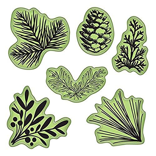 Inkadinkado 65-32073 Stamping Gear Cling Stamps, Pinecones and Evergreen