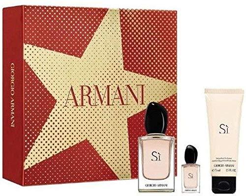 Giorgio Armani Si 50ml Eau de Parfum + 15ml Eau de Parfum Tascgenspray + 75ml Body Lotion