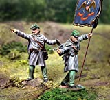 Civil War Toy Soldiers Union Berdan's Sharpshooters Infantry, Officer and Flagbearer 2-Piece Set Collectors Showcase Toy Soldiers Painted Metal Figure 54mm-56mm CS00786 Britains King Country Type