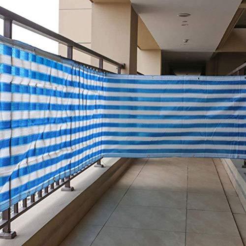 YZJL Balcon Clôture Privée Protection Parasol Rayé Anti-UV Respirant HDPE Oeillets Antirouille Clôtures Décorativesclôture de Jardin