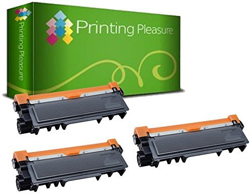Printing Pleasure 3 Compatible TN2320 Cartouches de Toner pour Brother HL-L2300D HL-L2340DW HL-L2360DN HL-L2365DW DCP-L2500D DCP-L2520DW DCP-L2540DN MFC-L2700DW L2720DW L2740DW - Noir, Grande Capacité