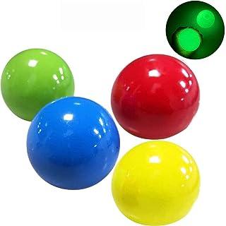 YEKKU Bolas de alivio de estrés, 4 unidades de ADN para el estrés, bolas adhesivas de pared, juguetes de descompresión par...