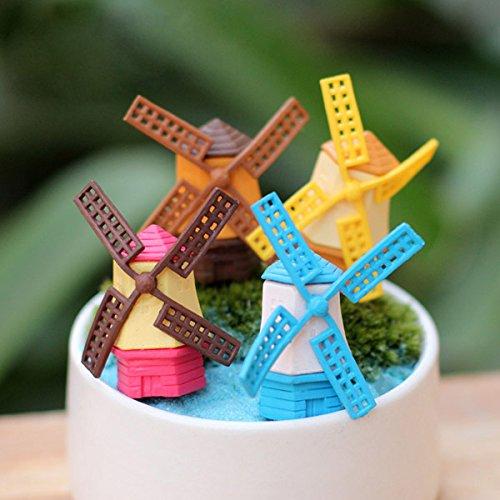 Bluelover Carino mini-molen van Vento Micro Landschap tuin decoratie knutselen