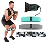 Team Marchesi Fitness Resistance Bands, 3 Intensity Levels Fabric Set, Unisex Exercise Bands for Full Body Workout, Non Slip Booty Bands for Legs and Butt