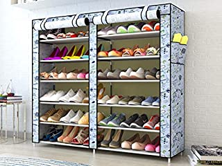 Sterling Shoe Racks for Home, Shoe Rack with Cover 12 Layer Multipurpose Shoes Stand for Shoe Storage Organizer Blue Color...