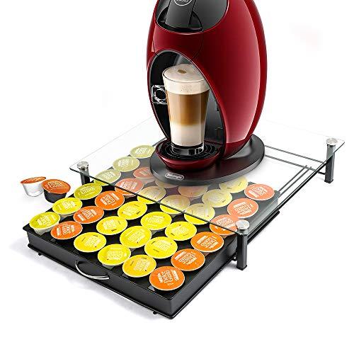 HiveNets Dolce Gusto Kaffee Kapselhalter Kapselständer Kapseln Hartglas Schubladen Organiser für 36 Stück