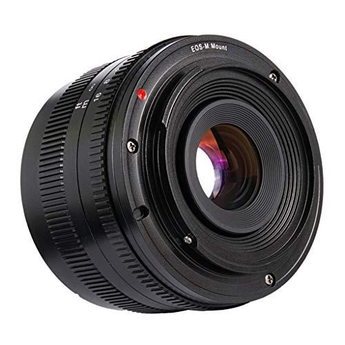 Almencla Lente de Gran Angular F1.8 de 50 mm, Objetivo para Canon EF-M