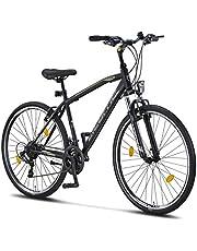 Licorne Bike Bicicleta de trekking prémium de 28 pulgadas, para niños, niñas, mujeres y hombres, cambio de 21 velocidades, bicicleta de hombre y niño, Life M-V