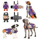 Chaleco Salvavidas para Perro Ripstop Chaleco de Seguridad Ajustable con Alta flotabilidad y Mango de Rescate Duradero para Perros pequeños, medianos y Grandes