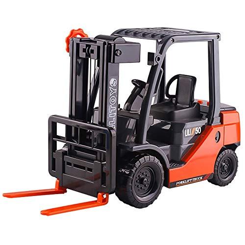 Lihgfw Verdickte große Musik-Gabelstapler-Spielzeugauto kann Lade- und Entladewagen-LKW-Trägheits-Technik-Fahrzeug-Jungen und Mädchen-Spielzeugauto 33cm anheben (Color : Rot)