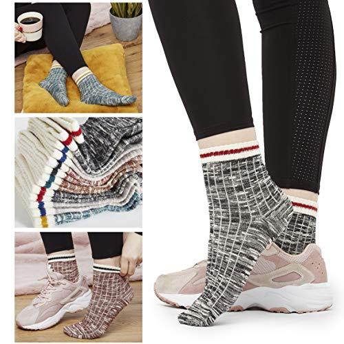 CityComfort Womens Socks, Cotton Ladies Socks size 4, 5, 6, 7, Socks Womens 4-7 Multipack For Walking, Gym, Running, Everyday Wear, Unisex Design For Men Woman Boys Girls Teenagers