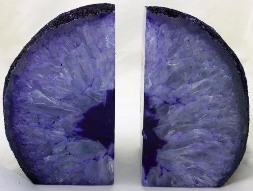 Par de único ágata sujetalibros. Regalo de Primera Calidad De Lujo. Púrpura