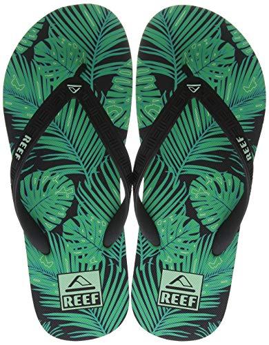 Reef Seaside Prints, Chanclas Hombre, Green Palm, 42 EU