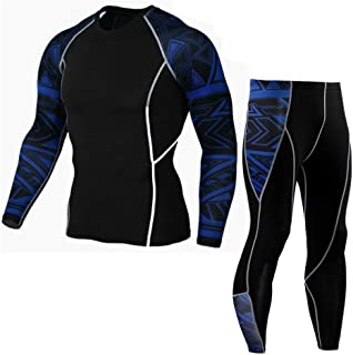 Zooka Mens Compression Pants +T Shirts Men Bodybuilding Jogger Fitness Exercise Skinny Leggings Comperssion Tights Pants Trousers