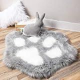 Ashler Home Deco Ultra Soft Faux Sheepskin Fur Rug, Shaggy Cat Paw...